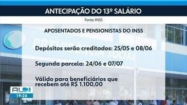 Aposentados e pensionistas alagoanos começam a receber antecipação do 13º salário - Comércio está na expectativa para aumento do movimento.