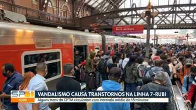 Falha elétrica provoca redução de velocidade dos trens da Linha 7 - Rubi da CPTM e interrompe serviço que liga Jundiaí ao ABC Paulista - Segundo a Companhia, entre as estações Francisco Morato e Franco da Rocha, trens circulam com intervalos médios de 18 minutos.