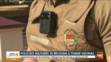 Policiais militares se recusam a tomar vacina contra a Covid em SC - Policiais militares se recusam a tomar vacina contra a Covid em SC