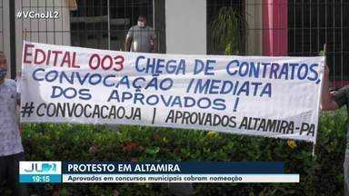 Em Altamira, aprovados em concursos municipais cobram nomeação - Em Altamira, aprovados em concursos municipais cobram nomeação