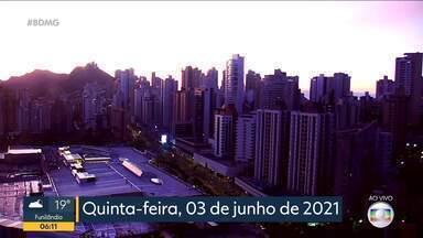 Bom Dia Minas – Edição de quinta-feira, 3/6/2021 - Bom Dia Minas – Edição de quinta-feira, 3/6/2021