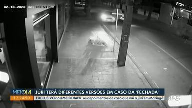 Exclusivo: vídeos mostram versões de acusado e vítima no caso da 'fechada', que vai a júri - O Jornalismo do Meio-Dia Paraná teve acesso exclusivo aos vídeos que mostram as diferentes versões sobre o caso, ocorrido em fevereiro de 2020, na Zona 7 de Maringá.