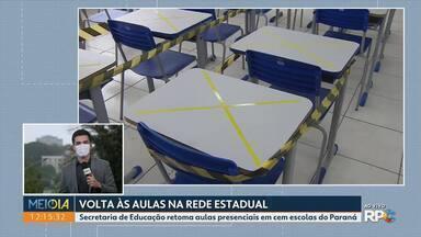 Secretaria de Educação diz que cem escolas estaduais retomaram aulas nesta segunda - A Secretaria não divulgou a lista de escolas