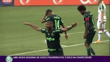 Abel muda esquema de jogo e Palmeiras faz 3 gols na Chapecoense - Abel muda esquema de jogo e Palmeiras faz 3 gols na Chapecoense