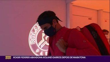Roger Federer abandona Roland Garros depois de maratona de 3h36 - Roger Federer abandona Roland Garros depois de maratona de 3h36