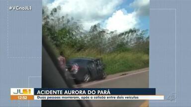 Duas pessoas morreram após colisão entre dois veículos em Aurora do Pará - Duas pessoas morreram após colisão entre dois veículos em Aurora do Pará.