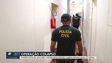 Secretário de saúde de Ji-Paraná, servidor e procurador são afastados durante operação - Eles são suspeitos de tentar desviar R$ 37 milhões de recursos destinados a pandemia.