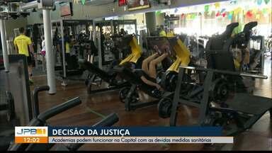Academias podem funcionar em João Pessoa, com restrições - Decisão da Justiça.