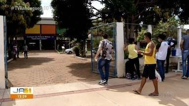 Veja a movimentação durante a prova do concurso da PM em Palmas - Veja a movimentação durante a prova do concurso da PM em Palmas