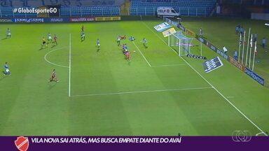 Vila Nova arranca empate contra o Avaí fora de casa - Vila Nova arranca empate contra o Avaí fora de casa