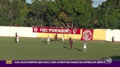 4 de Julho fica no empate sem gols contra o Juventude pela série D - 4 de Julho fica no empate sem gols contra o Juventude pela série D