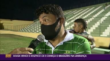 Sousa estreia com vitória sobre o Atlético-CE na Série D - Dinossauro venceu a equipe cearense por 2 a 1, no Marizão