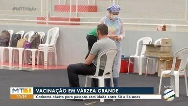 Várzea Grande abre pré-cadastro para pessoas de 50 a 54 anos sem comorbidades - Várzea Grande abre pré-cadastro para pessoas de 50 a 54 anos sem comorbidades.