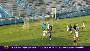 Em jogo com seis gols, Fast empata com o Ypirganda-AP na estreia da Série D - Em jogo com seis gols, Fast empata com o Ypirganda-AP na estreia da Série D