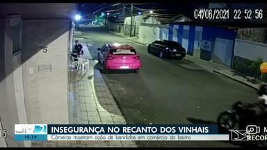 Moradores do Recanto do Vinhais denunciam insegurança no bairro - Pela segunda vez, uma casa foi alvo de bandidos.