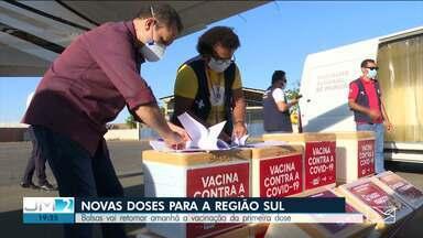 Balsas recebe novas vacinas para aplicação da primeira dose contra a Covid-19 - Até esta terça (8), vacinas serão distribuídas para outras cidades da região.
