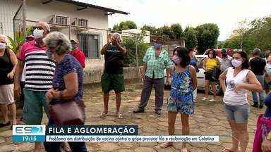 Muita espera e indignação na procura pela vacina contra a gripe em Colatina - Assista a seguir.