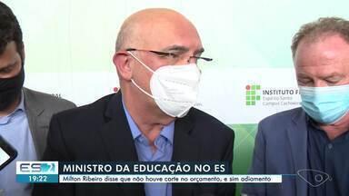 Ministro da Educação, Milton Ribeiro, visita o Espírito Santo - Assista a seguir.