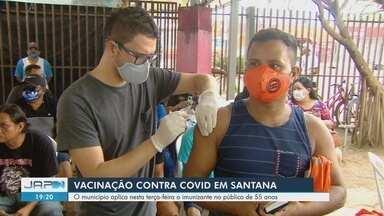 Santana aplica nesta terça-feira vacina contra Covid-19 no público de 55 anos - Santana aplica nesta terça-feira vacina contra Covid-19 no público de 55 anos