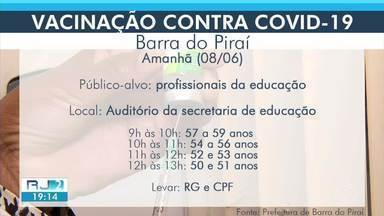Cidades da região ampliam vacinação para novos grupos - Veja quem pode ser vacinado em Barra do Piraí, Paracambi e Barra Mansa.