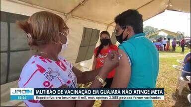 Mutirão de vacinação contra covid-19 é realizado em Guajará-Mirim - Ao todo, 3.088 pessoas foram vacinadas na ação.