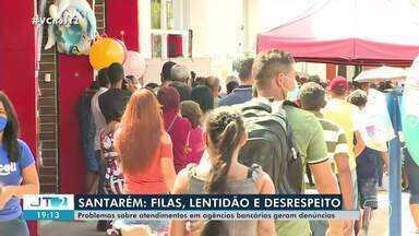Filas e desrespeito são registrados durante atendimento em agências bancárias em Santarém - Procon alerta para importância das denúncias.