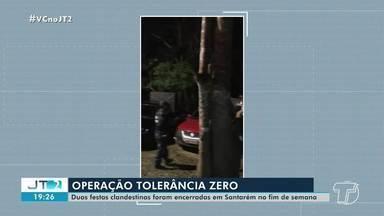 Festas clandestinas são encerradas durante o fim de semana em Santarém - Operação 'Tolerância Zero' percorre locais alvo de denúncias.