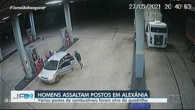 Homens são suspeitos de assaltar postos de combustível em Alexânia - Vários postos de combustíveis foram alvo da quadrilha.