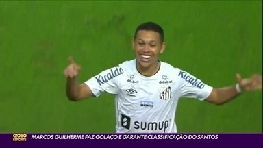 Marcos Guilherme faz golaço e garante classificação do Santos - Marcos Guilherme faz golaço e garante classificação do Santos