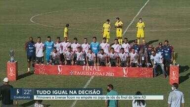 Primavera e Linense empatam primeira partida da final da Série A3 - Jogo foi disputado na tarde desta quarta-feira (9), em Indaiatuba. Destaque ficou para os goleiros dos dois times.