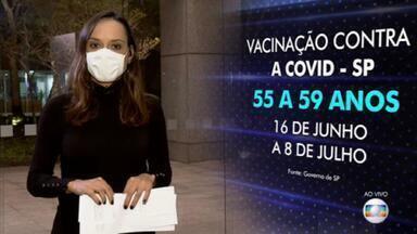 São Paulo antecipa idade para vacinação contra a Covid em todo o estado - Após uma aceleração na distribuição da 1º dose, o Governo de SP anunciou que vai antecipar a vacinação em toda a população adulta do estado.