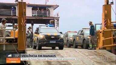 Manaus recebe restante da tropa da Força Nacional de Segurança nesta quinta-feira - É esperada para esta quinta-feira (10), em Manaus, a chegada do restante da tropa da Força Nacional de Segurança enviada para enfrentar a escalada da violência na cidade. Os primeiros integrantes começaram a desembarcar ontem a capital amazonense.