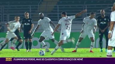 Fluminense perde para o Bragantino, mas se classifica pela Copa do Brasil com golaço de Nenê - Fluminense perde para o Bragantino, mas se classifica pela Copa do Brasil com golaço de Nenê