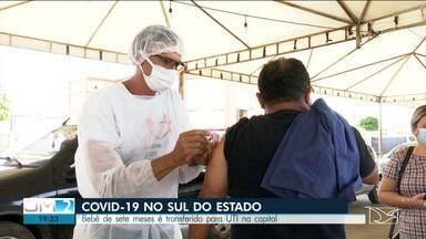 Por falta de leitos em Balsas, bebê com Covid-19 é transferido às pressas para São Luís - Números da pandemia no sul do Maranhão continuam preocupantes.