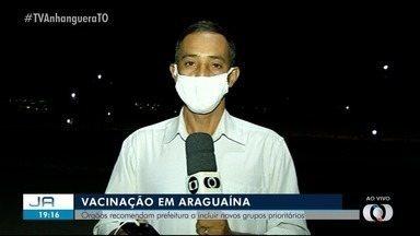 Órgãos recomendam Araguaína a incluir novos grupos prioritários na imunização - Órgãos recomendam Araguaína a incluir novos grupos prioritários na imunização