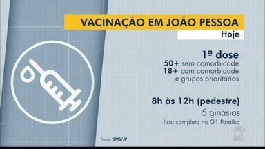 Confira o cronograma de vacinação em João Pessoa, nesta sexta-feira (11) - Veja as idades e horários de vacinação
