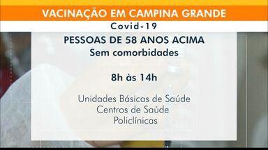 Confira o cronograma de vacinação em Campina Grande, nesta sexta-feira (11) - Veja as idades e locais de vacinação