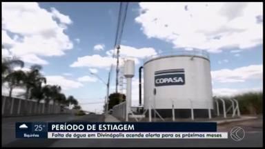 Período de seca acende alerta para o abastecimento de água em Divinópolis - Rio que abastece a cidade está com o nível de 1,37 metros na região de captação de água. Na mesma data no ano passado, o nível era de 1,57 metros. Em alguns locais, a falta de água é constante e a preocupação com o futuro aumenta.