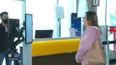 Aeroporto de Congonhas testa sistema de reconhecimento facial de passageiros - Ideia é substituir apresentação de documentos para embarque em voos.