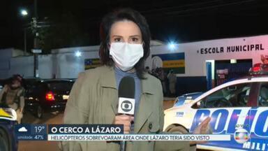 Décimo dia em fuga: Helicópteros sobrevoam área onde Lázaro teria sido visto novamente - Veja também: Moradora relata que a família dela foi feita refém por Lázaro Barbosa meses atrás.