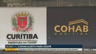 Cohab alerta para golpes em nome da companhia - Golpistas pedem dinheiro para fazer contrato de casas que não existem.