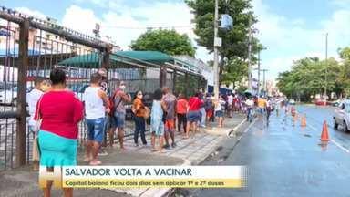 Salvador retoma vacinação contra a Covid - Depois de dois dias sem aplicar nenhuma dose, cidade recebeu novas remessas, que incluem a vacina da Janssen