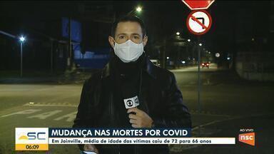 Pandemia: Em Joinville, média de idade das vítimas caiu de 72 para 66 anos - Pandemia: Em Joinville, média de idade das vítimas caiu de 72 para 66 anos