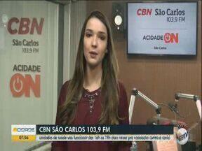 UB's de São Carlos passam a funcionar das 16h às 19h para a vacinação contra a Covid - A jornalista Isabela Gandini da CBN São Carlos tem mais informações.