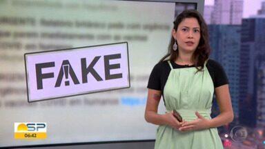 Fato ou Fake no Bom Dia SP - Equipe do G1 mostra o que circula pelas redes quando o assunto é vacina.