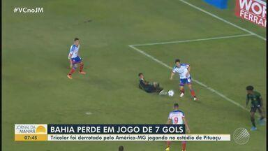 Bahia perde para o América- MG pela série A do Campeonato Brasileiro - Tricolor foi derrotado na quarta-feira (30), no estádio de Pituaçu.