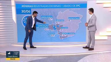 Temperaturas muito baixas são registradas em municípios do Triângulo - Uberaba registrou temperatura mais baixa dos últimos dez anos e moradores tiveram que enfrentar geada
