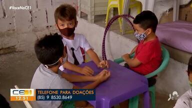 Projeto na Granja Portugal necessita de doações para ajudar crianças carentes - Saiba mais em g1.com.br/ce