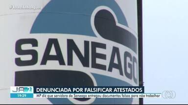 MP denuncia servidora da Saneago por falsificar atestados médicos para faltar ao trabalho - Caso aconteceu em Ceres.