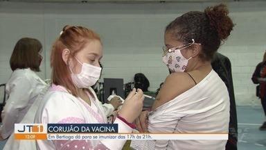Bertioga vacina moradores contra a Covid-19 até às 21h nesta sexta-feira - Corujão da vacina segue acontecendo no município.